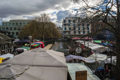 Camden lock. Food stand in camden lock market Royalty Free Stock Photos