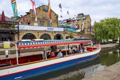 Camden Lock i London Fotografering för Bildbyråer