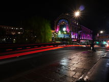 Camden Lock. Light trails in Camden Lock Stock Photos