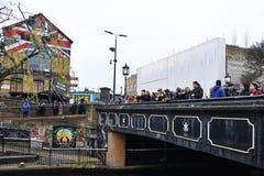 Camden Lock in London, UK stock images