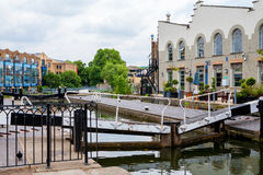 Camden Lock. Regents Canal, London, England. View of Camden Lock, Camden Town, London, England, UK, Europe stock photo