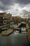 Camden lock. View of camden lock in london Stock Image