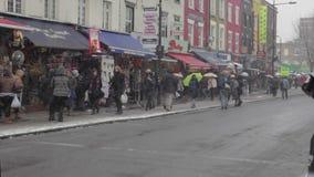 Camden London Snow stock footage