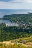 Camden, Maine. View of Camden harbor from the top of the mountain Stock Photography