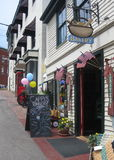 Camden , Maine. The commercial section of Camden, Maine is full of bakeries, restaurants and plenty of beautiful stores. With just turning the corner to be on Royalty Free Stock Photography