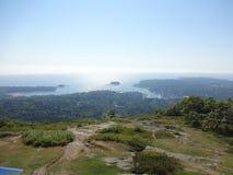 Camden, Maine from Mt Battie. View of Camden, Maine from the top of Mount Battie Stock Photos