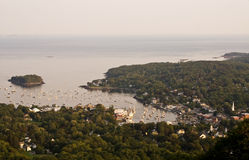 Camden, Maine. View of Camden, Maine from Mount Battie Royalty Free Stock Images