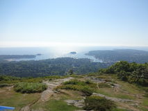 Camden, Maine von Mt Battie Stockfotos