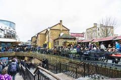 Camden Market i London, England, Förenade kungariket Arkivfoto