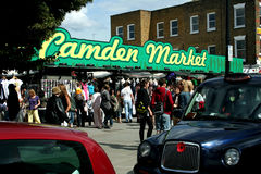 Camden Market in London Stock Image