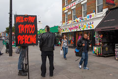 Camden market, London Stock Image
