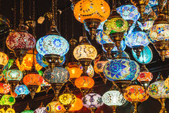 Camden Market The Stables Moroccan or Turkish lamp shop london Stock Image