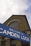 Camden marknad i London Arkivbild