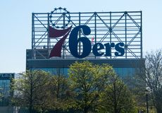 Philadelphia 76ers sign royalty free stock images