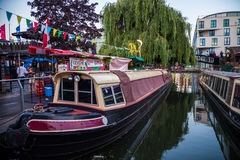 Camden river. Photography of Camden during the summer festivals, London, UK Stock Images