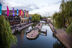 Camden river. Photography of Camden during the summer festivals, London, UK Stock Image