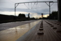 Camden Road. Overground station depth of field Royalty Free Stock Image