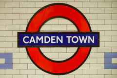 Camden Town au fond Photos stock