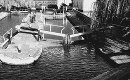 Camden Town Canal Locks Royaltyfri Fotografi