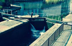 Camden Town Canal Locks Opening Arkivfoto