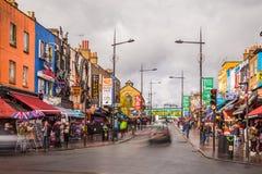 Camden Town in Londen stock foto