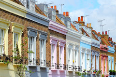 Camden Town, London. London, United Kingdom - colorful houses in Camden Town district Royalty Free Stock Photography
