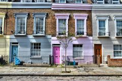 Camden Town, London. London, United Kingdom - colorful houses in Camden Town district Royalty Free Stock Images