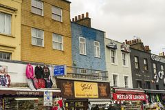 Details of house wall in Camden Town London Great Britain Royalty Free Stock Photography