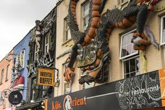 Details of house wall in Camden Town London Great Britain Royalty Free Stock Photos