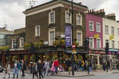 People walking on street in Camden Town London Stock Image