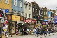 People walking on street in Camden Town London Royalty Free Stock Photography