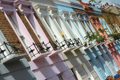 Camden Town. London, United Kingdom - colorful houses in Camden Town district Royalty Free Stock Images