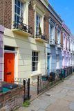 Camden Town, London. London, United Kingdom - colorful houses in Camden Town district Stock Images