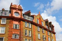 Camden Town, London. London, United Kingdom - old residential architecture in Camden Town district Stock Photo