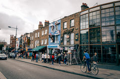 Camden Town Market. LONDON, UK - AUGUST 20, 2015: Camden Town Market, famous alternative culture shops. Mainly tourist oriented, selling souvenirs, crafts and Royalty Free Stock Image