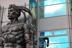 Camden town statue. Shaka zulu restaurant statue in england Stock Images