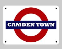 Camden Town Tube sign Stock Image
