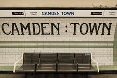 Camden Town Underground Station Royalty-vrije Stock Afbeeldingen