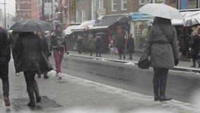 Camden Town Winter almacen de metraje de vídeo