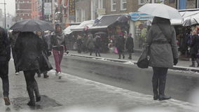 Camden Town Winter stock video footage