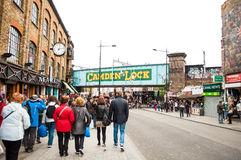 Camden-Verriegelung in London Stockfotos