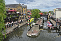 Camden-Verriegelung in London, Vereinigtes Königreich lizenzfreie stockfotos