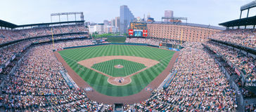 Camden-Yard-Stadion, Baltimore, Förster Orioles-V Förster, Maryland Stockfotografie