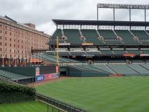 Camden Yards, estádio dos Baltimore Orioles, esvazia no offseason imagem de stock royalty free