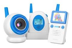 Came de bébé et moniteur audio de bébé, rendu 3D Photos libres de droits