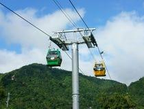 Came de Nui, delta du Mékong, câble de suspension, transport photographie stock libre de droits