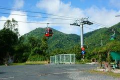 Came de Nui, delta du Mékong, câble de suspension, transport image libre de droits