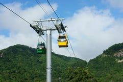 Came de Nui, delta du Mékong, câble de suspension, transport photo stock