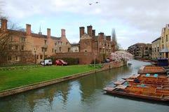 Came de rivière de ˆor de ¼ de Grantaï de rivière à l'université de Cambridge photo stock