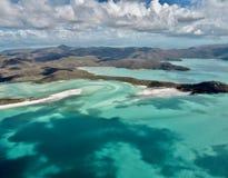 The Whitsundays Islands from above, Australia royalty free stock image
